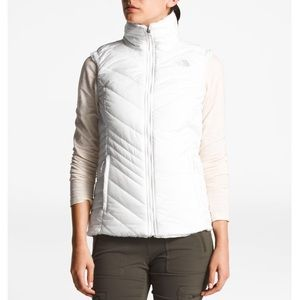North Face white women's puffer vest size M